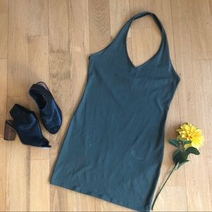 3/$30 Army green Halter body con dress size large